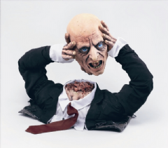 Cut Off Corpse Head Halloween Prop